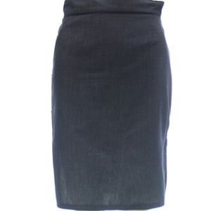 MIU MIU CHARCOAL GREY KNEE LENGTH COTTON SKIRT 2